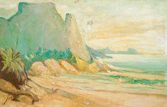 ARMANDO VIANNA - (1897 - 1988)    Título: Vista do Rio de Janeiro  Técnica: óleo sobre eucatex  Medidas: 35 x 54 cm  Assinatura: canto inferior direito  Data/Local: 1968