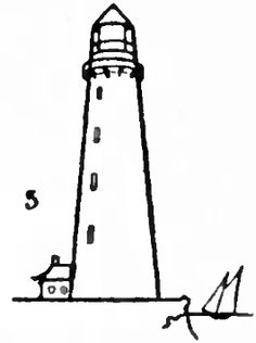 how to draw a lighthouse step by step easy