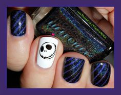 Halloween Striping Tape Mani from Plastered Polish