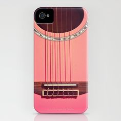 Pink Guitar iPhone Case by Galaxy Eyes | Society6 galaxi eye, iphone cases, galaxies, stuff, guitar iphon, iphon case, pink guitar, guitars, eyes