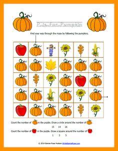 FREE Fall-Themed Printable Alphabet Worksheets for Preschool