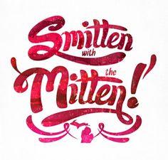 mighti mitten, arbors, ann arbor, mitten art, art prints, post card, design blogs, smitten, pure michigan