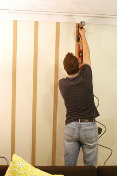 Board and batten wall tutorial, simple texture @Remodelaholic .com