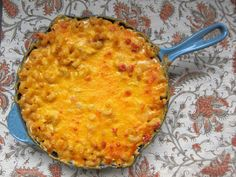 King Ranch Mac & Cheese - A hearty mac and cheese with Rotel, chicken, cheese and sour cream.  Yum.