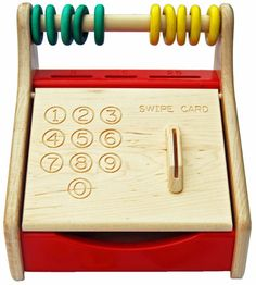 Wooden Cash Register Toy - Beautiful Maple Construction