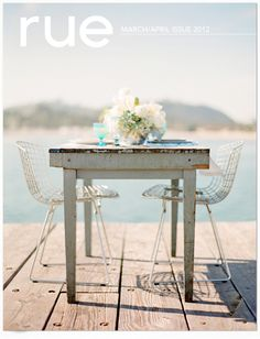 interior design, rustic table, lunches, font styles, chairs, outdoor, rue magazin, magazines, table for two