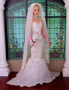 Blushing Bride for Silkstone Barbie Victoire Roux & by HankieChic