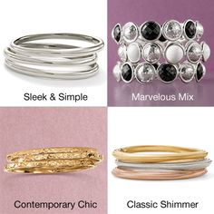 Wearing a stack of bangles is so on-trend and fall-perfect! Which bangle stack is your fave? >>Click on the bangles to view our bracelet collection. #bangle #bracelet #style #trending #braceletset