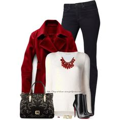"""Double-Breasted Peacoat"" by stay-at-home-mom on Polyvore"
