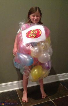 Bag of Jelly Beans - Homemade Halloween Costume