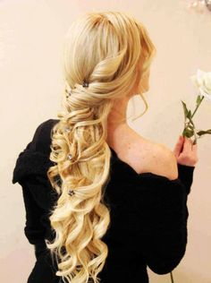 Beautiful formal long hairstyle