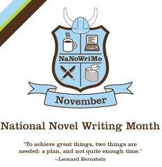 Join me for National Novel Writing Month in November - 50K words in 30 days!