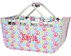 Personalized Market Basket ~ Perfect Graduation Gift filled with goodies for the dorm room!