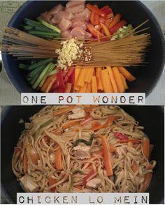 One Pot Wonder Chicken Lo Mein