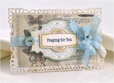 Such a tranquil, lovely colour palette. #cards #sympathy #scrapbooking