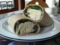 Yogurt Chicken Wrap…E, using a lowcarb wrap