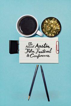 nice low tech film festival poster :) #houseofdisplay | Jane Austen Film Festival Poster by Cody Hamilton