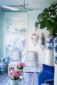 Mark D. Sikes   blue + white