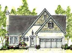 Elevation of Cottage   Craftsman   European   House Plan 69074