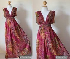 plus size boho evening dress | Peacock Maxi Dress - Boho Sexy Plunging V-neck Long Evening Gown ...