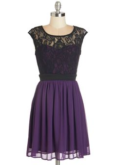 Shortcake Story Dress in Purple. Once upon a time, there was a gal with a passion for all things sweet. #purple #prom #modcloth