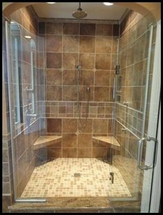 Master shower with dual shower heads