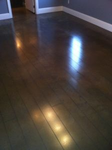 Stained concrete - looks like wood