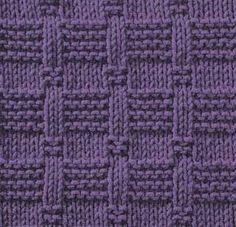 So many interesting patterns can be created by just using knit and purl.  Sure beats boring stocking stitch.