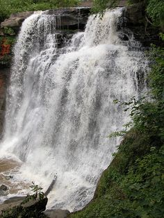brandywine falls, cleveland, ohio by stephen k. wagner.
