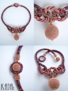 rope necklac, crochet rope