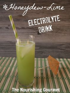 Honeydew-Lime Electrolyte Drink