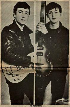 young paul mccartney and john lennon John LennonYoung John Lennon And Paul Mccartney