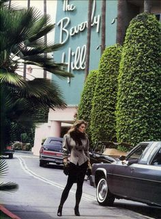Cordula Reyer @ the Beverly Hills Hotel