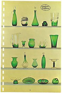 page from a 1950's Erickson Glass catalog