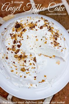 five minute angel toffee cake by sweetcsdesigns.com - just 3 ingredients to the most delicious, easy cake!