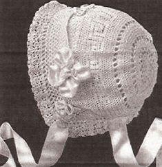 Vintage Baby Bonnet Crochet Pattern