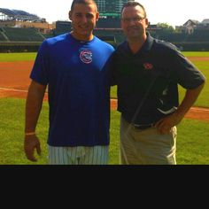 Anthony Rizzo and Mark Grace