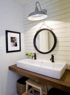 lights, baths, mirror, vaniti, light fixtures, bathroom idea, bathrooms, bathroom sinks, hous