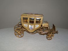 Palais Royale Etui French Antique Dore Carriage Casket Napoleon III, $1600 to start the bidding