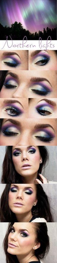 linda hallberg, eye makeup, color combos, light eye, aurora borealis, northern lights, hallberg makeup, daily makeup, eyemakeup
