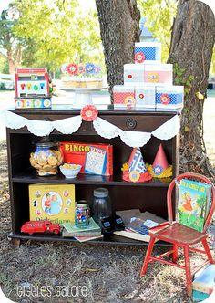 Vintage toy dick & jane birthday party for twins. See more via www.karaspartyideas.com