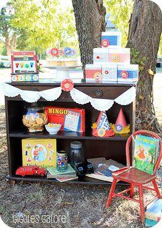birthday parties, vintage games, vintage birthday, vintage party, twin birthday