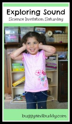 Science for Kids: Exploring Sound with a Hanger and String {Science Invitation Saturday} string scienc, clothes hangers, kids exploration, sound activities for kids, sound activities science, kids explorers, science for kids sound, sound for kids, explor sound