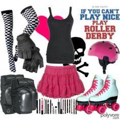 Roller derby look