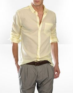 D & G   Yellow sheer shirt