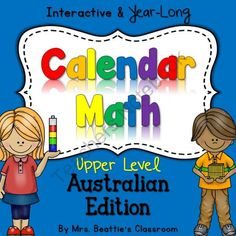 The Best UPPER ELEMENTARY Interactive SMART Board Calendar Math - Australian from Mrs. Beattie's Classroom on TeachersNotebook.com -  (41 pages)  - The Best UPPER ELEMENTARY Interactive SMART Board Calendar Math - Australian