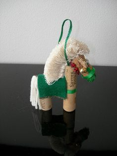 Assorted Hand Crafted Wine Cork Horsey by silkwormflorals on Etsy, $15.00