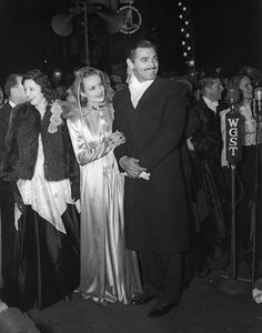 Clark Gable and his wife, Carole Lombard, at the film premier of Gone With The Wind on December 15, 1939 in Atlanta.