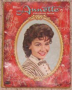 Vintage Walt Disneys 1961 Annette Funicello Coloring Book Whitman Publishing