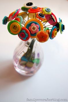 Button Flower Bouquet - perfect for Mother's Day!